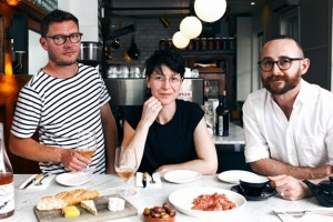 Chef Eileen Horsnell joins Daniel Lewis and Simon Benjamin at Napier Quarter.