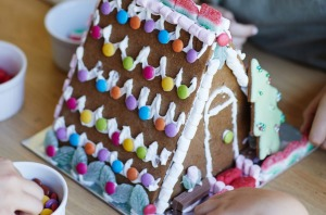 Best in show: Phillippa's gingerbread house (lollies and icing not included).