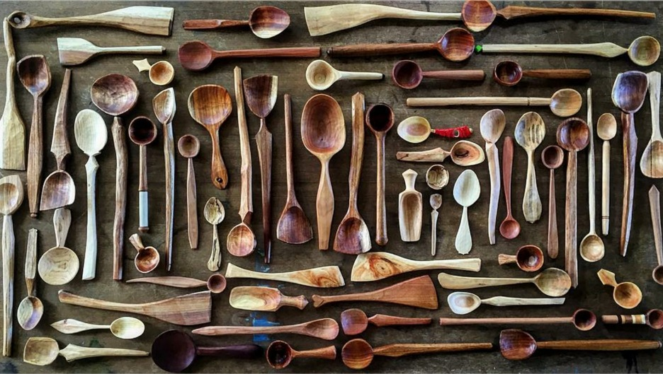 Gifts for food-lovers: Hand-made wooden spoons from Spoonsmith.