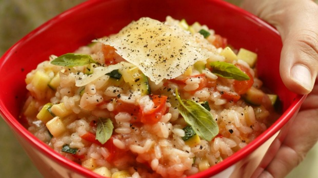 Tomato and basil rice