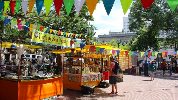 The San Telmo market held on Sundays in Buenos Aires, Argentina.