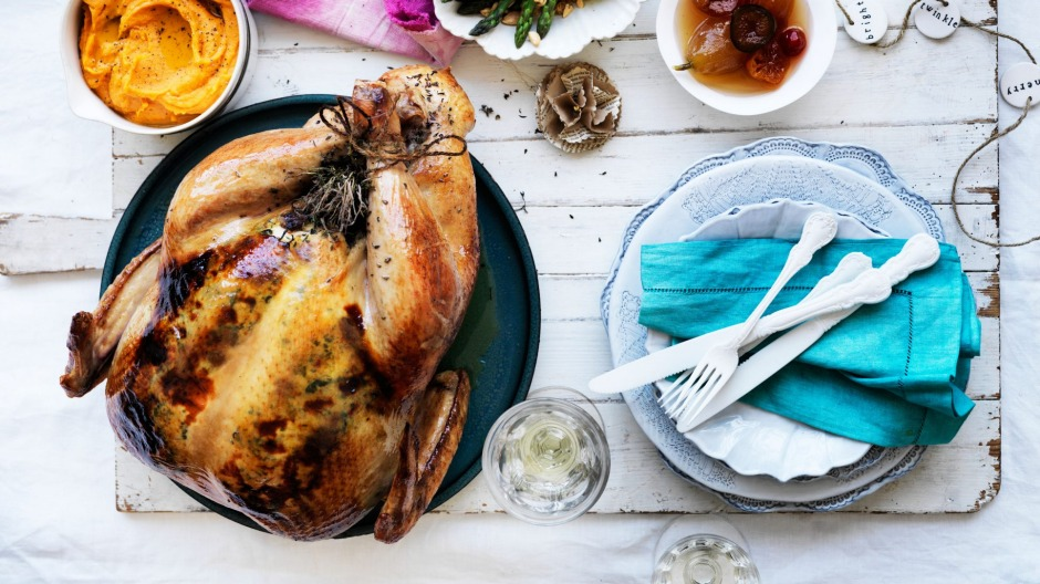Centrepiece dish: Neil Perry's roast turkey.