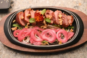 Smoked duck breast.