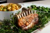 Keep it simple with Quay chef Peter Gilmore's Sunday lunch: Rack of lamb with rosemary salt, and new potatoes with ...