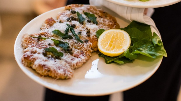 Schnitzel and sage at Totti's.
