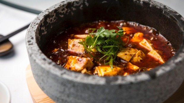 The signature mapo tofu with Sichuan pepper and fermented chilli.