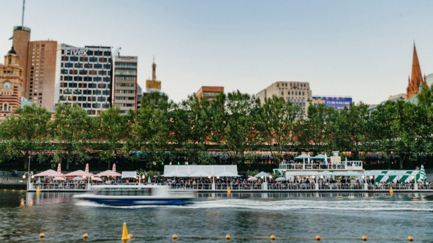 Drink and dine atop the Yarra at Arbory Afloat.