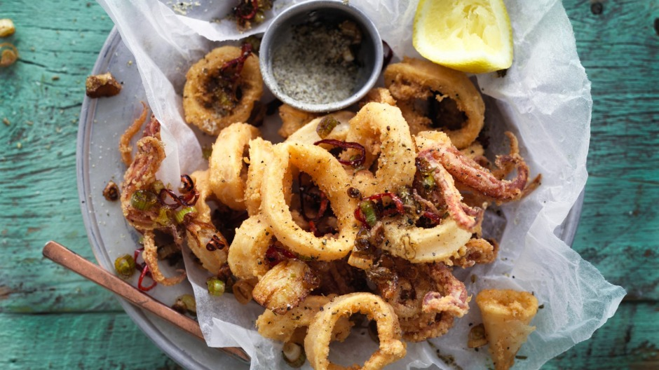 Salt, pepper and fennel squid.