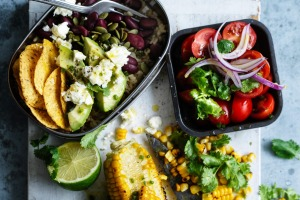 Fresh and colourful Texy-Mexy lunchbox salad.