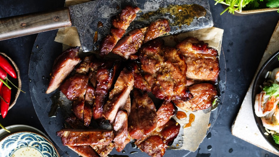 Roasted, caramelised pork - be sure to save some leftovers!
