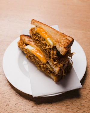The mi goreng toastie at Dutch Smuggler.