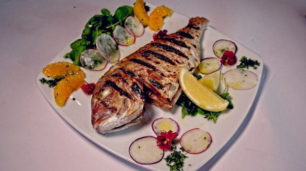 The fish of the day dish at the Ercolano restaurant in Patterson Lakes.