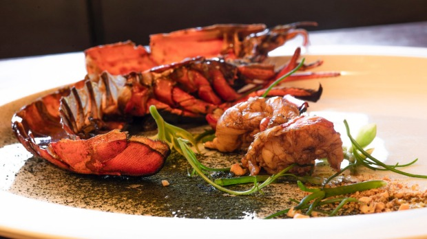 Barbecued marron on the menu at Maude.