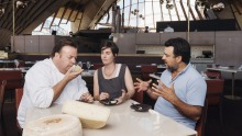 Bennelong's executive chef Peter Gilmore with Cressida and Michael McNamara from Pecora Dairy.