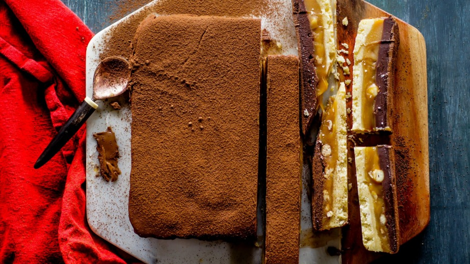 Caramel slice 2.0 with an extra layer of chocolate.