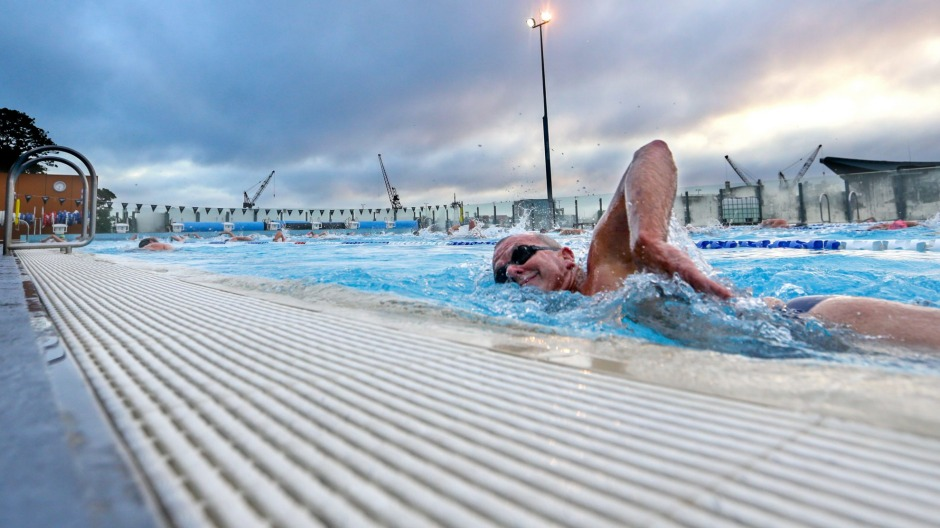 Swimmers at Andrew Boy Charlton Pool are fearless.