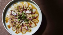 Seafood carpaccio at 1821.