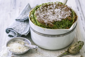 Helen Goh's cheese and kale souffle.