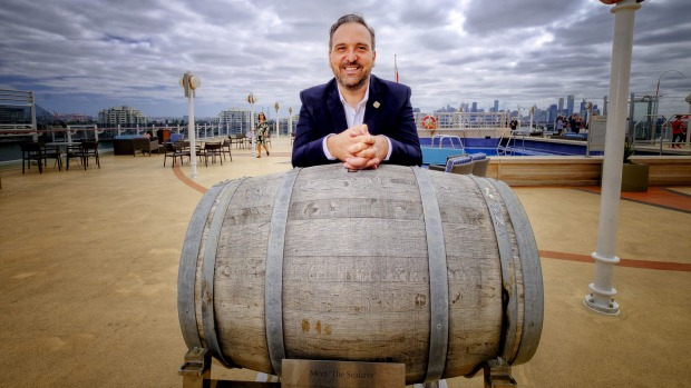 David Vitale tasted the whisky at its halfway point in South Hampton six months ago and is relieved the barrel has ...