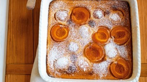 Apricot batter pudding.