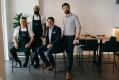 Left to right: Eliza Food and Wine's chef and owner Jeremy Bentley, head chef Shaz Akbar, owner Simon Rabbitt and ...