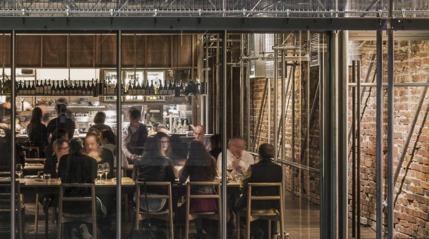 Sunda restaurant in Melbourne features scaffolding.
