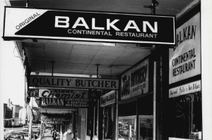 Croatian specialist: The pioneering Balkan restaurants at Taylor Square in 1985.