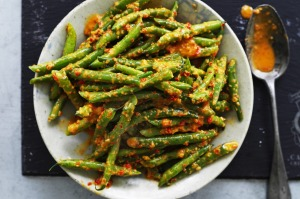 Green beans in coconut cream.