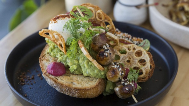 'Smashed in Japan' avocado toast.