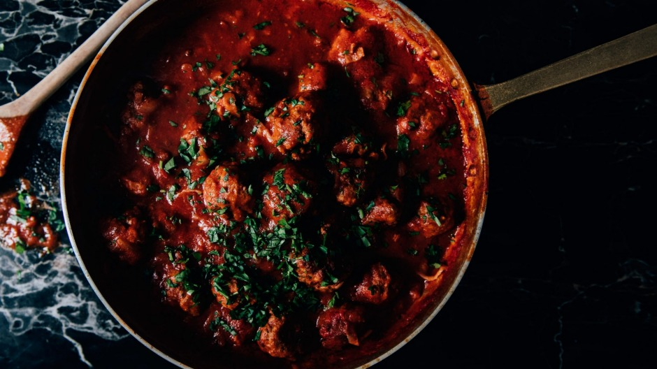 Nonna Anna's polpette (meatballs) are the base of a two-course meal.