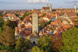 View over Rothenburg ob der Tauber on Germany's Romantic Road.
