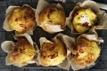 Turmeric gives these savoury muffins a golden glow.