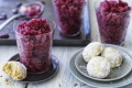 Sangria granita with almond olive oil biscuits is a light, refreshing finish to a meal.