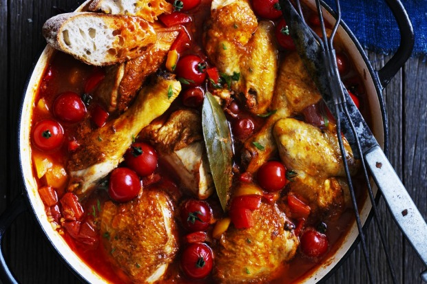 Italian chicken with capsicums and summer tomatoes <a ...