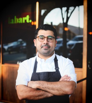 Labart owner-chef Alex Munoz Labart, whose restaurant has a European-bistro feel.