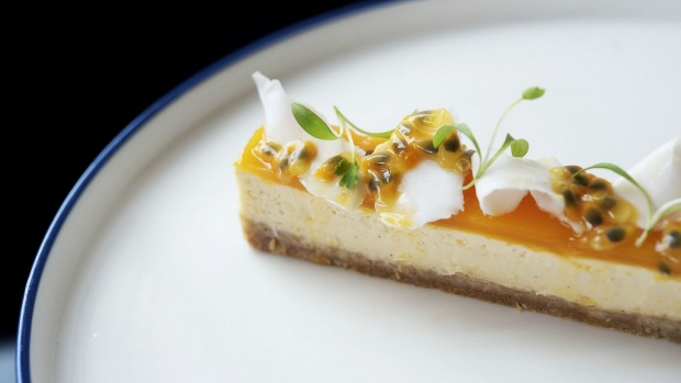 Cheesecake with passionfruit.