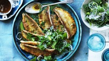Neil Perry's pan-fried whiting with burnt butter and herb salad.