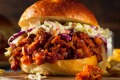 A vegan burger with pulled jackfruit - but how many air miles did the jackfruit have to travel?