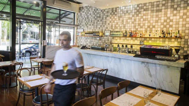 Chef-owner Domenico di Marco lives above his Carlton North restaurant.