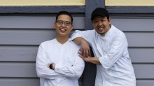 The collaboration between Victor Liong (left) and Chase Kojima will be a mix of their individual styles.