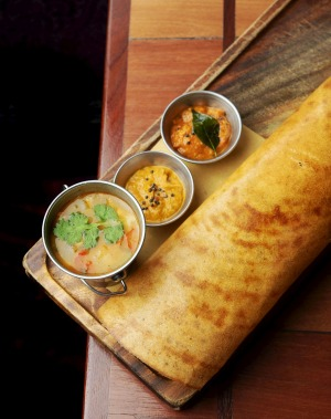 Masala dosa would be a great way to kick-start the day if Abhi's opened for breakfast.