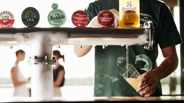 Nagambie Brewery and Distillery will serve house-made beers and brews from further afield.