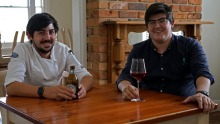 Brothers Blayne and Chayse Bertoncello of O.My restaurant in Beaconsfield.