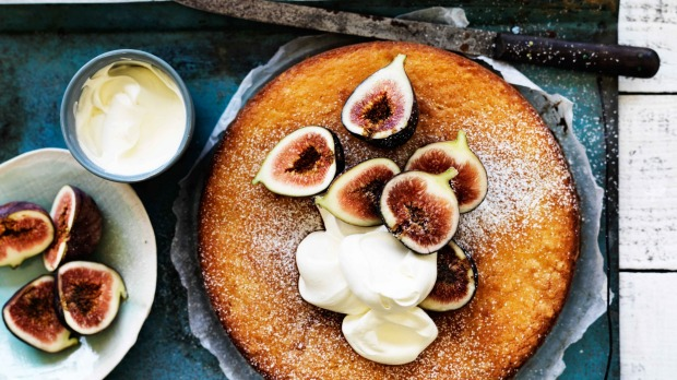 Neil Perry's Fig and lemon yoghurt cake.