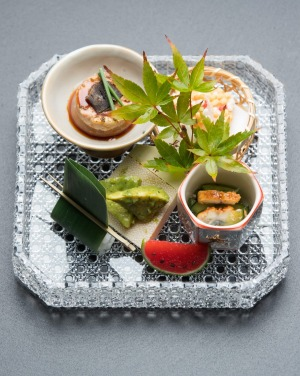 Zensai (a platter of tiny delicacies).