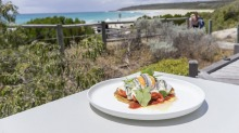 Bunker's Beach House Cafe's food and views are dual attractions.