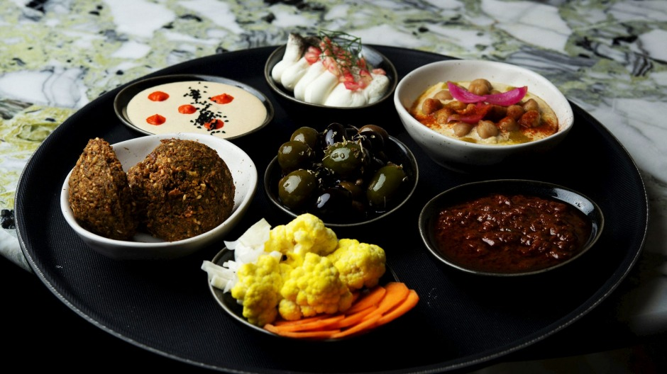 The Tayim plate, with small share-friendly appetisers.