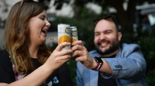 "Bella Fyffe and Kevin Munro are self-described ""canned wine enthusiasts""."