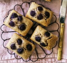 Helen Goh's cherry, lemon and olive oil financiers.
