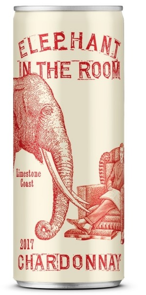 Fourth Wave Elephant chardonnay can.